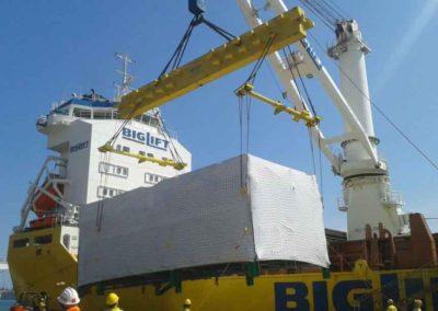 Imballaggio in legno per trasporto via mare