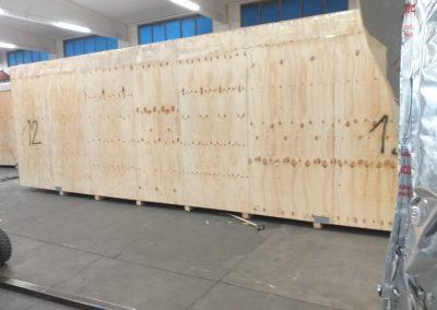 Cassone in legno assemblato per trasporto speciale